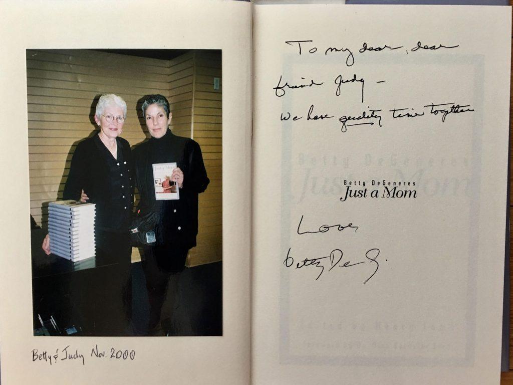 BettyDeGeneres and Judy Wieder