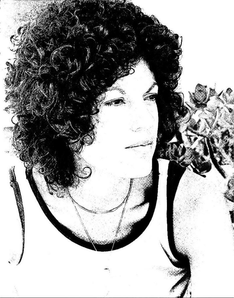 Judy Wieder in her Angela Davis years