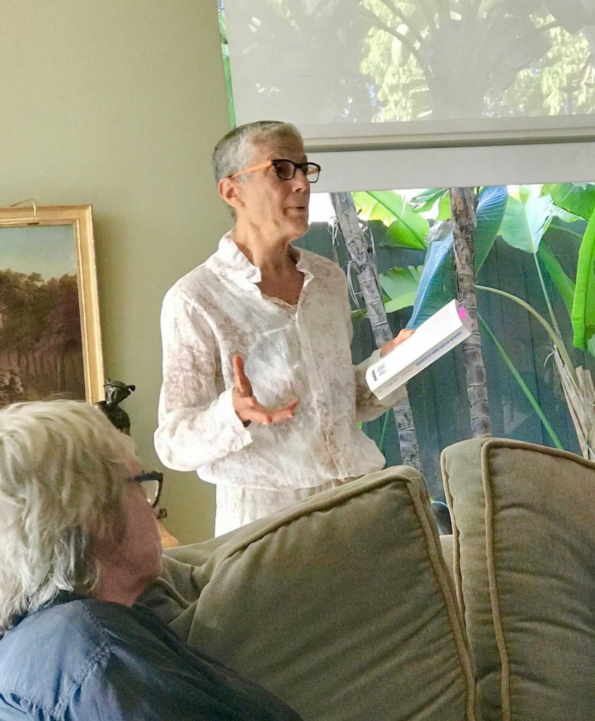 Judy Reading at Book Launch Party