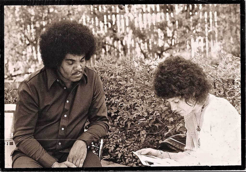 Joe Jackson (father of Jackson 5) and Judy scheduling interviews with his sons