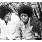 Judy and Michael Jackson during our many Right On! days together in the '70s
