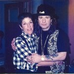 Judy and Ozzy Osbourne at a London recording session during her hard-rock life